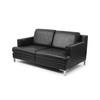 Black Leather Ds739 2 Seater Sofa On Corner Leg (161cm X 90cm X 71cm H)