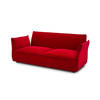 Red Velvet 'darwin' 2 Seater Sofa (184cm X 90cm X 78cm H)