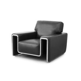 "Black Leather & Chrome ""DS180"" Armchair"