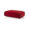 Rect. Red Velvet 'darwin' Ottoman (127cm X 86cm X 40cm H)