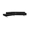 Black Leather 3 Part Kennedee Seating Unit