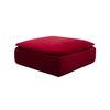 Square Red Velvet 'darwin' Ottoman (86cm X 86cm X 40cm H)