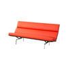 Orange Vinyl C.Eames 3 Seater Sofa (183cm X 70cm X 88cm H)