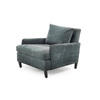 Teal Blue Fabric Ava Armchair & Cushion (84cm X 100cm X 75cm H)