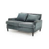 Teal Blue Fabric Ava 2 Seater Sofa & Cushions (131cm X 100cm X 75cm H)