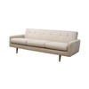 Beige Fabric 50's Style Buttoned Back 3 Seater Sofa (180cm X 80cm X 62cm H) (, Vintage)