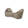 Metallic Bronze Fabric 'kiss' Sofa (190cm X 69cm X 74cm H)