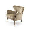 Crystal Gold Velvet Babe Armchair With Lacquered Legs (69cm X 68cm X 74cm H)