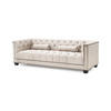 Natural Linen Chesterfield Style Paolo Sofa (230cm X 85cm X 72cm H)