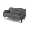 Grey Fabric & Suede Gatwick 2 Seater Sofa (155cm X 65cm X 80cm H)