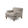 "Brown Textured Fabric ""Lamora"" Armchair (95cm X 100cm X 74cm H)"