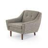Grey Tweed Fabric Armchair (80cm X 80cm X 70cm H)