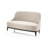 Silver Fabric 'stanley' 2 Seater Sofa (153cm X 80cm X 85cm H)