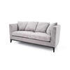 "Grey Fabric Two Tone  ""Linell"" 2 Seater Sofa With 4 Scatter ( H: 75cm W: 180cm D: 80cm )"