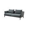 Green ''chelsea'' 3 Seater Sofa With Eucalyptus Legs ( H: 88cm W: 226cm D: 96cm )