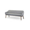 Light Grey Woolen Sofa On Smoked Oak Legs ( H: 90cm W: 205cm D: 60cm )
