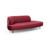 "Raspberry Velvet ""Grace"" Sofa With Open Right End (257cm X 102cm X 64cm H)"