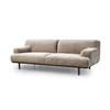 "Mink Velvet ""Madison"" 3 Seater Sofa On Smoked Oak Legs (230cm X 100cm X 77cm H)"