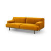 "Curry Velvet ""Madison"" 3 Seater Sofa On Smoked Oak Legs ( H: 77cm W: 230cm D: 100cm )"