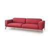 "Dry Rose Fabric ""Bee"" 3 Seater Sofa On Black Metal Legs (246cm X 90cm X 73cm H)"
