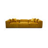 "Large Mustard ""Cosima"" Ribbed Fabric 3 Piece Sofa With 4 Scatter Cushions (330cm X 120cm X 64cm H)"