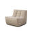 Dark Beige Fabric Curved Chair Without Arms (80cm X 91cm X 76cm H)