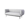 "Light Grey Fabric ""Cloud"" 2 Seater Sofa On Black Legs ( H: 75cm W: 192cm D: 82cm )"