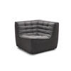 Dark Grey Fabric Curved Corner Chair Without Arms ( H: 76cm W: 91cm D: 91cm )