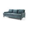 Teal Blue Fabric Ava 3 Seater Sofa & Cushions (206cm X 100cm X 75cm H)