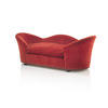 Red Shapely Velvet Love Sofa (200cm X 95cm X 73cm H)