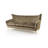 Crystal Gold Velvet Sophia Sofa With Gold Legs