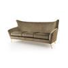 Crystal Gold Velvet ''sophia'' Sofa With Gold Legs ( H: 94cm W: 209cm D: 88cm )