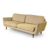 Two Tone Green Retro 3 Seater Sofa (215cm X 80cm X 80cm H)