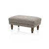 Brown Textured Fabric Lamora Ottoman (80cm X 55cm X 35cm H)