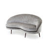 "Grey Vintage Velvet ""Biarritz"" Sofa (175cm X 96cm X 82cm H)"