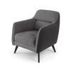 Grey Fabric & Suede Gatwick Armchair (70cm X 65cm X 80cm H)