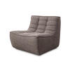 Dark Grey Fabric Curved Chair Without Arms ( H: 76cm W: 80cm D: 91cm )