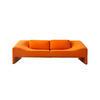 Sml Orange Felt 'malmo' Sofa With Two Rect Cushions (210cm X 105cm X 63cm H)