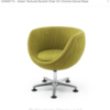 Lime Green Stripe 'wazowski' 5 Prong Base Tub Chair