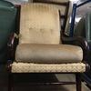 Gold Pattern 3 Button Mahogany Frame Easy Chair