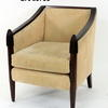 Reeded Cap Mahogany Yellow Jumbo Cord Tub Chair