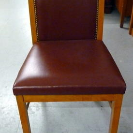 Magna Cherry & Red Leather Studded Occ Chair