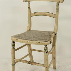 Campney Hand Painted Cream/Green Finish D/T Chair