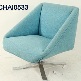 Nube Blue Zost Swivel Armchair