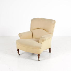 Trad Cream Cotton Fabric Bolshoi Bedroom Chair