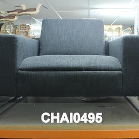 Mariani Charcoal Fabric Kubico Armchair on Glides