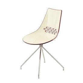 White & Red Perspex Jam Dining Chair
