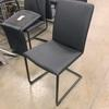 All Black Viynl On Black Metal Tubular Canti Frame Dining Chair