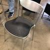 Cast Ali Frame Black Padded Seat Dining Chair