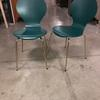 Teal 'ant' Style With Gold Leg Dining Chair